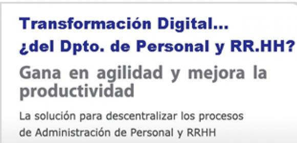 TRANSFORMACIÓN DIGITAL DEL DPTO. DE PERSONAL Y RR.HH